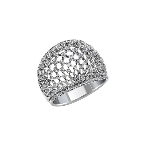 18K White Gold Diamond Ring, Rings, Nazar's & Co. - Nazar's & Co.