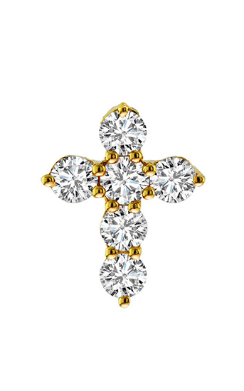 18K Yellow Gold and Diamond Cross Pendant - Nazar's & Co.