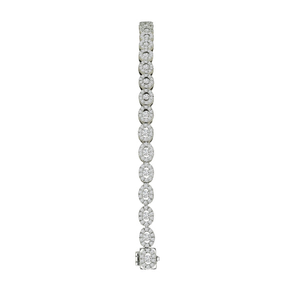 18K White Gold Diamond Tennis Bracelet, Bracelets, Nazar's & Co. - Nazar's & Co.