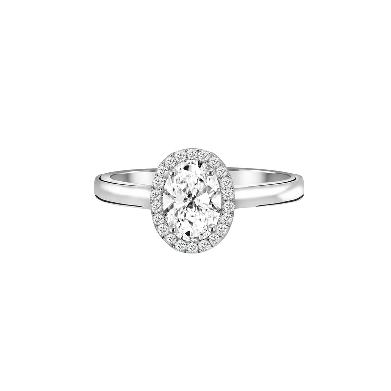 18K White Gold Diamond Engagement Ring - Nazar's & Co.