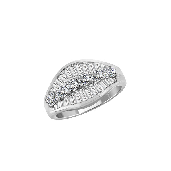 18K White Gold and Diamond Band - Nazar's & Co.
