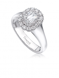 Christopher Designs L'Amour Crisscut® Diamond Engagement Ring, Rings, Nazar's & Co. - Nazar's & Co.