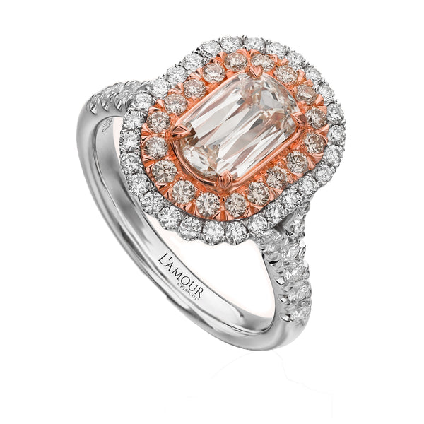 Christopher Designs Crisscut L'Amour Engagement Ring - Nazar's & Co.