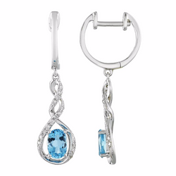 Nazar's Collection Topaz and Diamond Earrings, Earrings, Nazar's & Co. - Nazar's & Co.