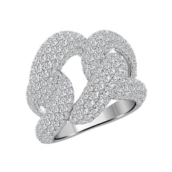 18K White Gold Diamond Ring - Nazar's & Co.