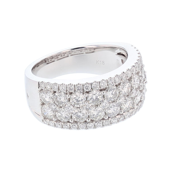 18K White Gold 2.50 Carat Diamond Ring - Nazar's & Co.