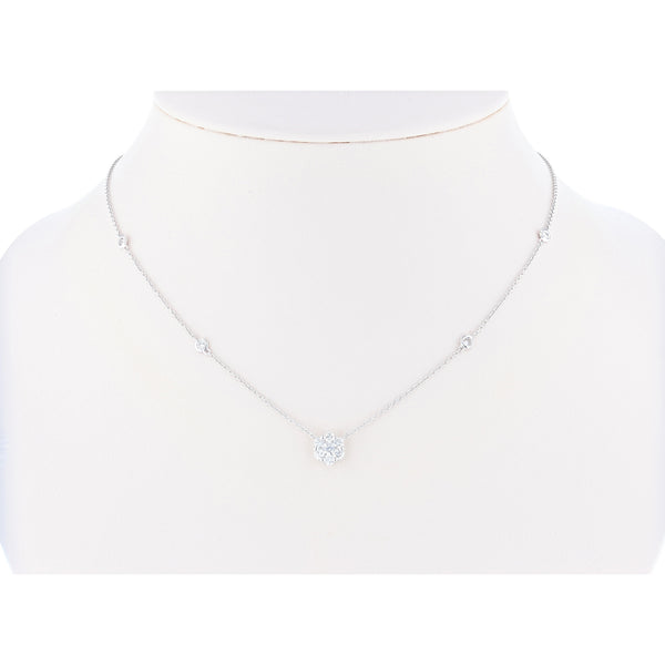 18K White Gold Diamond Necklace, Necklaces, Nazar's & Co. - Nazar's & Co.