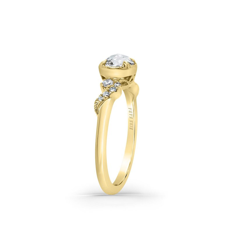 Kirk Kara Dahlia14K Yellow Gold Rose Cut Diamond Engagement Ring, Rings, Nazar's & Co. - Nazar's & Co.