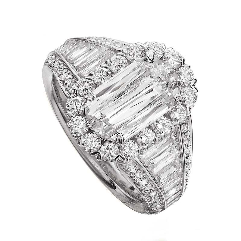 Christopher Designs Crisscut L'Amour Engagement Ring, Rings, Nazar's & Co. - Nazar's & Co.