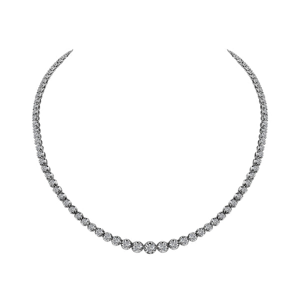 Platinum Diamond Necklace - Nazar's & Co.
