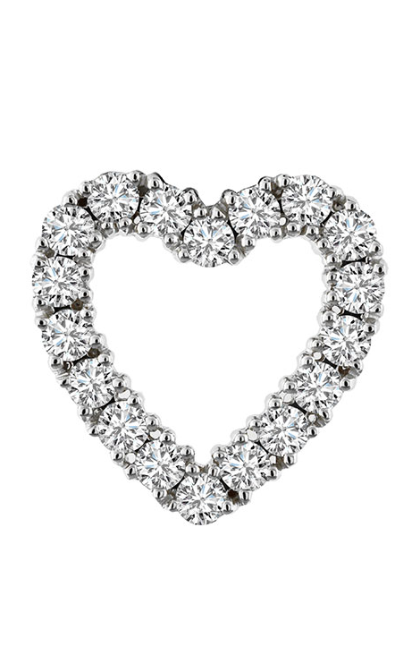 14K White Gold 2.53 Carat Diamond Heart Pendant - Nazar's & Co.
