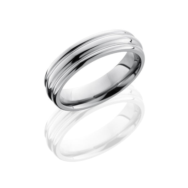 Lashbrook Titanium Polished Men's Wedding Band, Rings, Nazar's & Co. - Nazar's & Co.