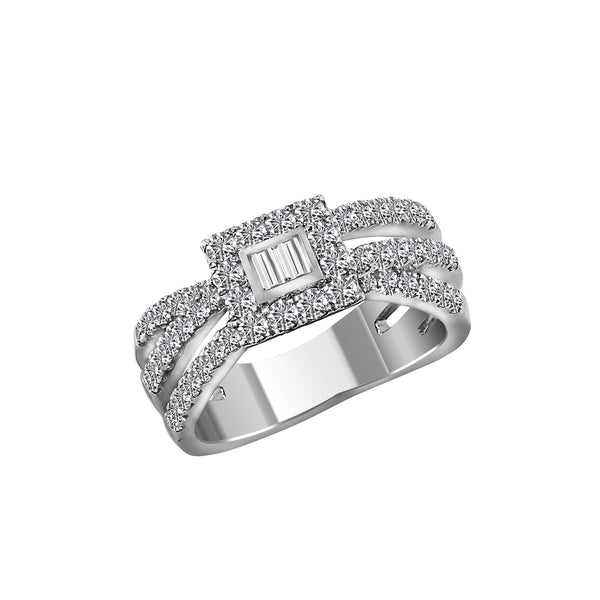 14K White Gold and Diamond Band, Rings, Nazar's & Co. - Nazar's & Co.