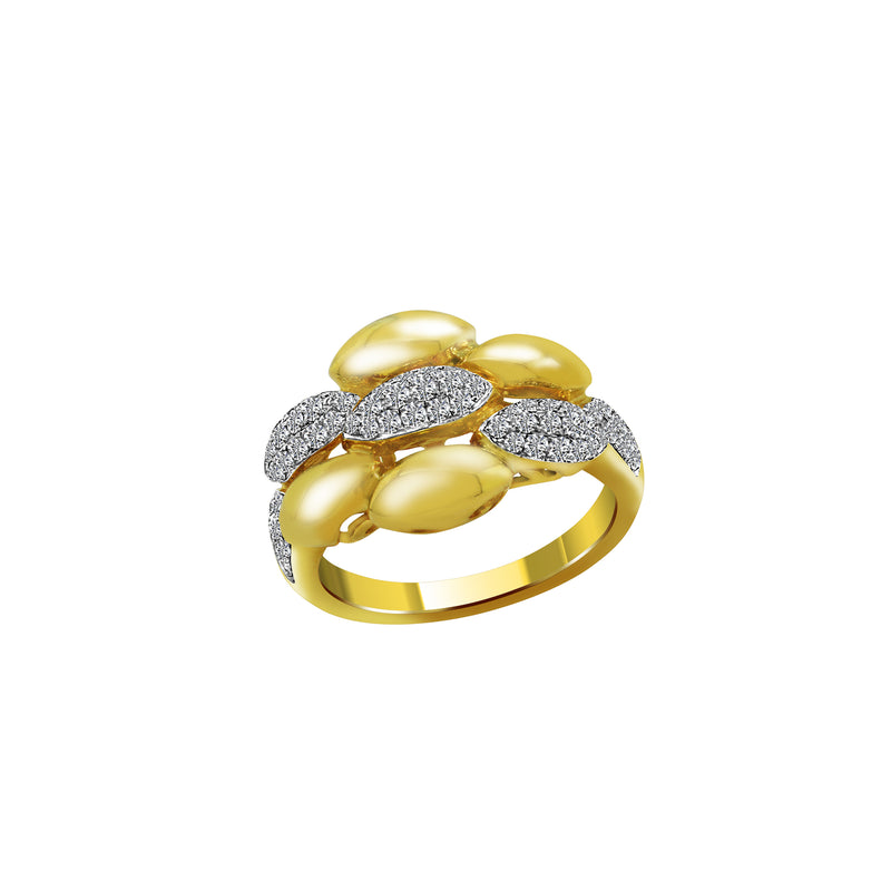 18K Yellow Gold with Diamond Ring, Rings, Nazar's & Co. - Nazar's & Co.