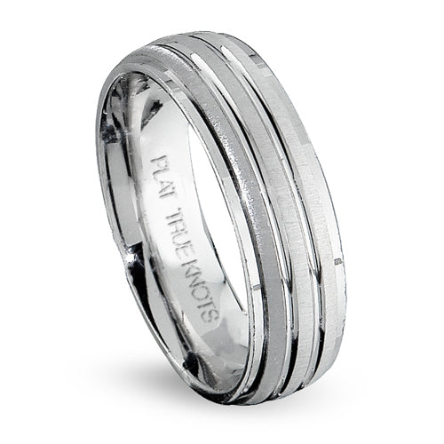 True Knots 14K White Gold Wedding Band, Rings, Nazar's & Co. - Nazar's & Co.