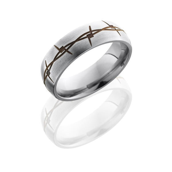 Lashbrook Titanium Satin Satin Men's Wedding Band, Rings, Nazar's & Co. - Nazar's & Co.