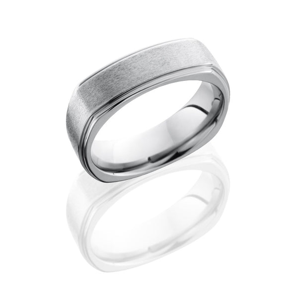 Lashbrook Titanium Stone Polished Men's Wedding Band, Rings, Nazar's & Co. - Nazar's & Co.