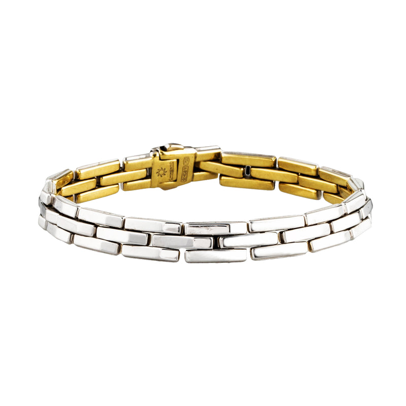 Chimento Reversible White and Yellow Gold Bracelet, Bracelets, Nazar's & Co. - Nazar's & Co.