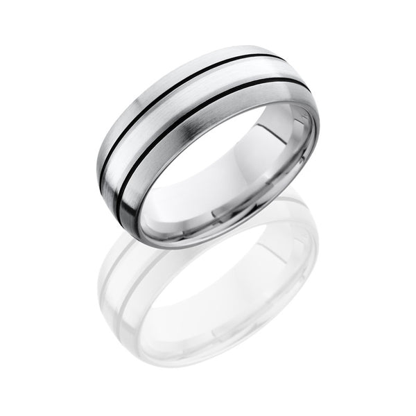 Lashbrook Titanium Satin Men's Wedding Band, Rings, Nazar's & Co. - Nazar's & Co.