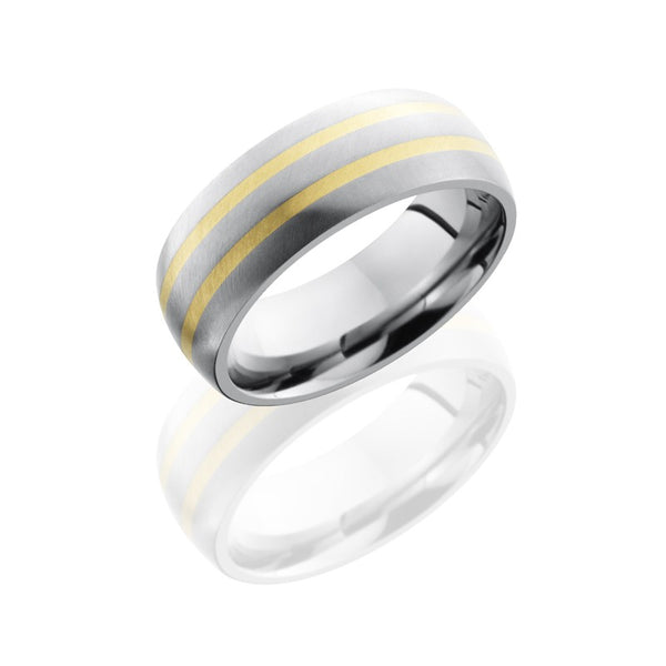 Lashbrook Titanium Angle Satin Men's Wedding Band, Rings, Nazar's & Co. - Nazar's & Co.