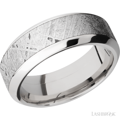 Lashbrook Mens Meteorite Band, Rings, Nazar's & Co. - Nazar's & Co.