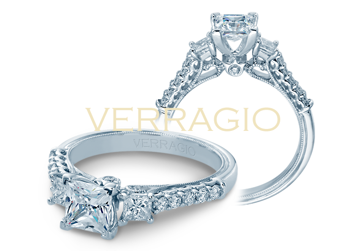 Verragio Classic Engagement Ring Setting, Rings, Nazar's & Co. - Nazar's & Co.