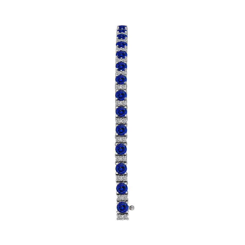 14K White Gold Tanzanite and Diamond Bracelet - Nazar's & Co.