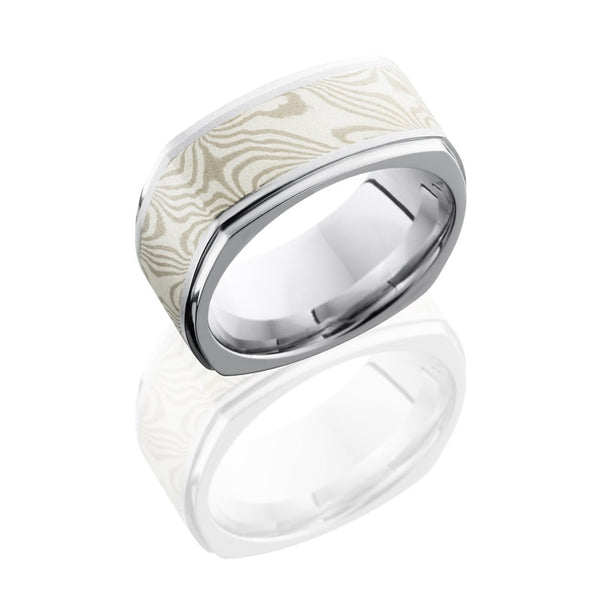 Lashbrook Mokume Gane Stone Men's Wedding Band, Rings, Nazar's & Co. - Nazar's & Co.