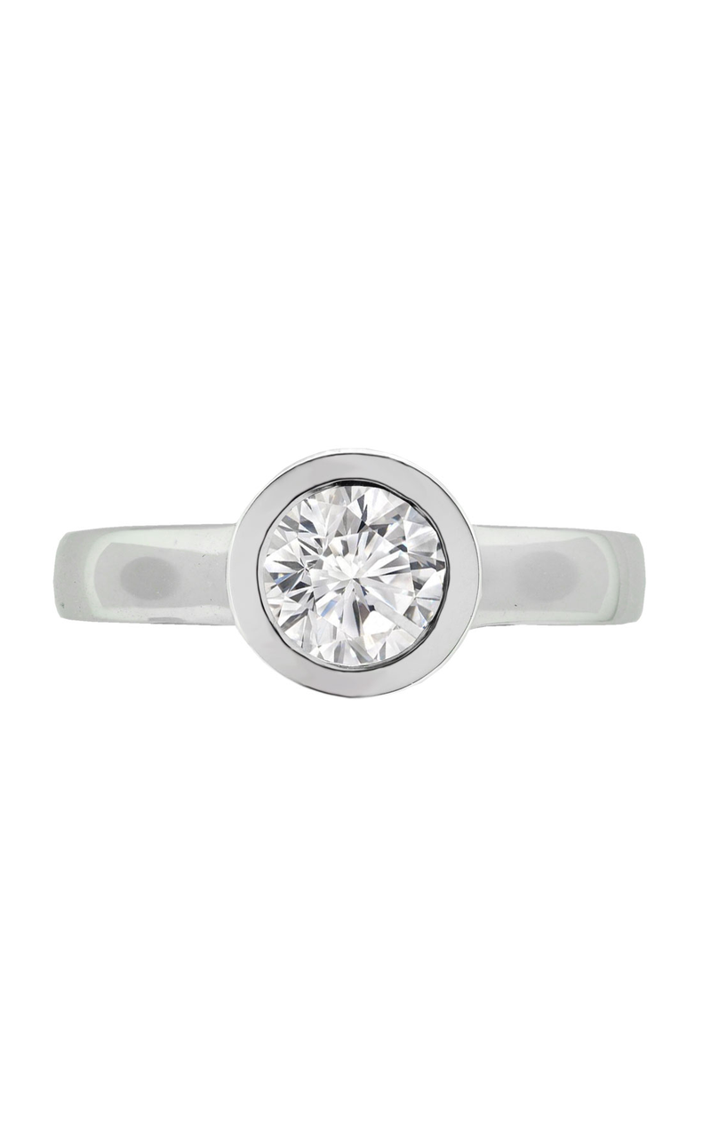 14K White Gold 1.01 Carat Diamond Solitaire Engagement Ring - Nazar's & Co.