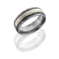 Lashbrook Mokume Gane Satin Acid Polished Men's Wedding Band, Rings, Nazar's & Co. - Nazar's & Co.
