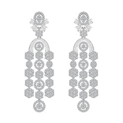 Diamond Chandelier Earrings, Earrings, Nazar's & Co. - Nazar's & Co.