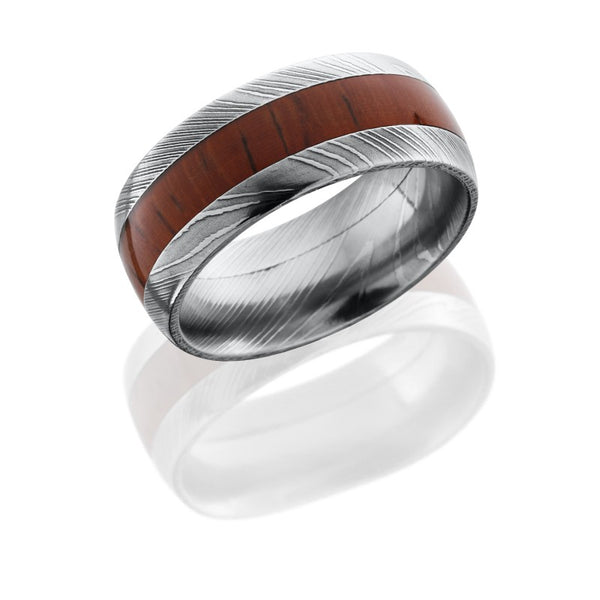Lashbrook Hardwood Acid Men's Wedding Band, Rings, Nazar's & Co. - Nazar's & Co.