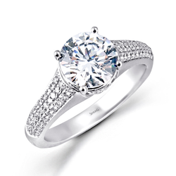 Simon G. Modern Enchantment Engagement Ring Setting, Rings, Nazar's & Co. - Nazar's & Co.