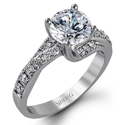 Classic Romance Collection 18K White Gold Engagement Ring Setting, Rings, Nazar's & Co. - Nazar's & Co.