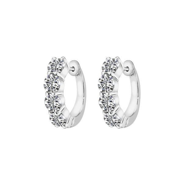 3.04 Carat Diamond Hoop Earrings, Earrings, Nazar's & Co. - Nazar's & Co.