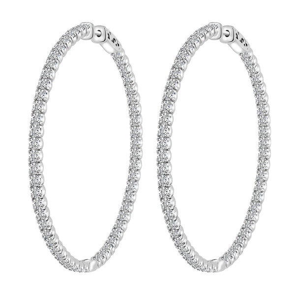 6.62 Carat Diamond Hoop Earrings, Earrings, Nazar's & Co. - Nazar's & Co.