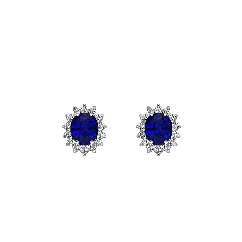 Blue Sapphire and Diamond Earrings, Earrings, Nazar's & Co. - Nazar's & Co.