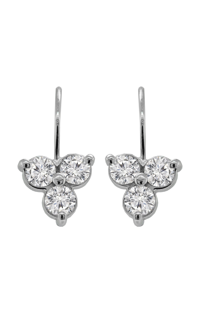 14K White Gold Diamond Earrings, Earrings, Nazar's & Co. - Nazar's & Co.