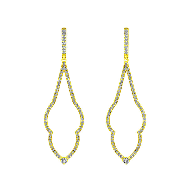 Yellow Gold Diamond Earrings, Earrings, Nazar's & Co. - Nazar's & Co.
