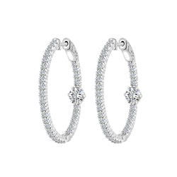 Diamond Hoop Earrings, Earrings, Nazar's & Co. - Nazar's & Co.