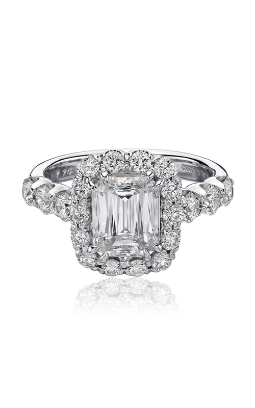 Christopher Designs Crisscut Emerald Engagement Ring, Rings, Nazar's & Co. - Nazar's & Co.