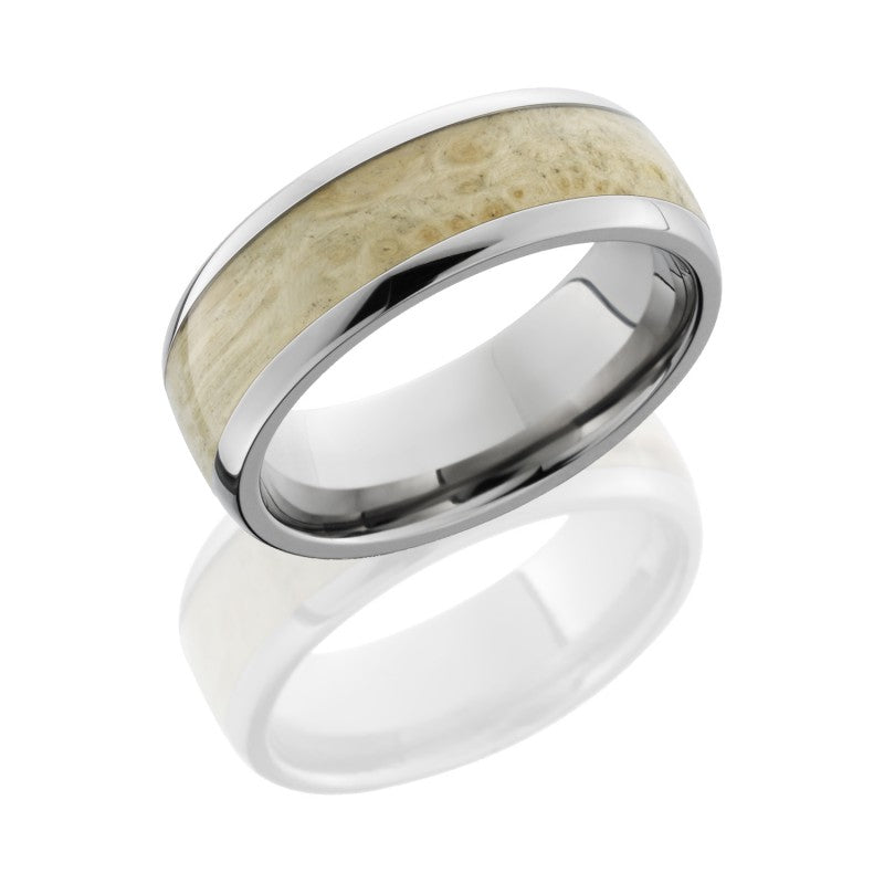 Lashbrook Hardwood Polished Men's Wedding Band, Rings, Nazar's & Co. - Nazar's & Co.