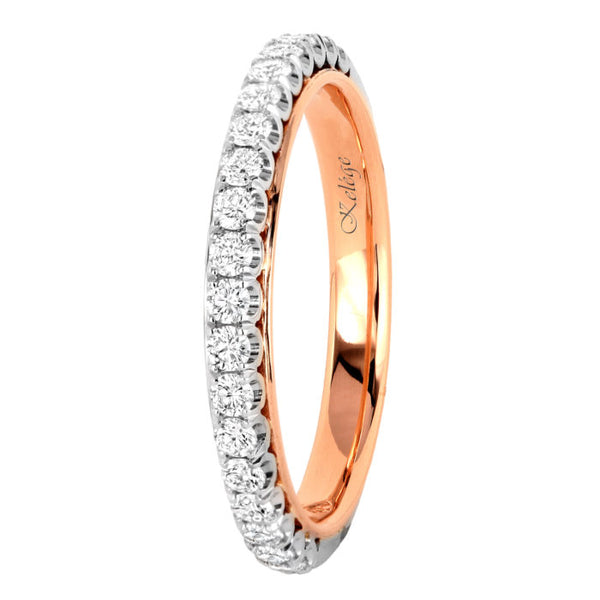Jack Kelege White and Rose Gold Diamond Wedding Band - Nazar's & Co.