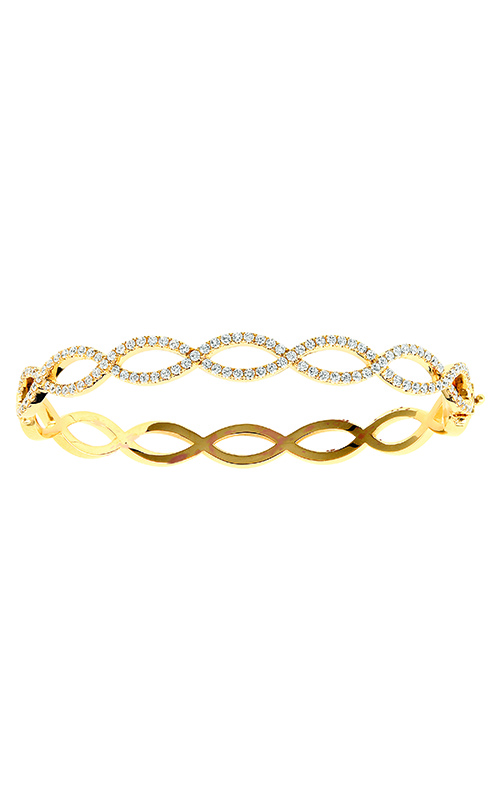 Jack Kelege 18K Yellow Gold Diamond Bangle - Nazar's & Co.