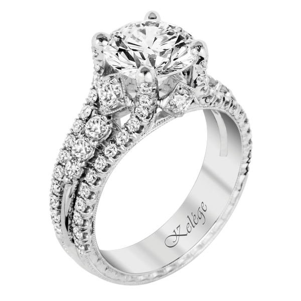 Jack Kelege Platinum Engagement Ring Setting - Nazar's & Co.