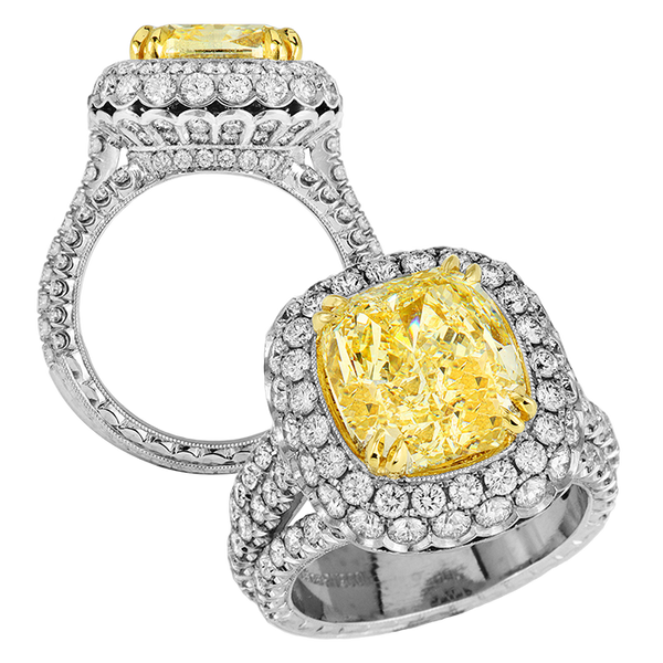 Jack Kelege Yellow Diamond Engagement Ring - Nazar's & Co.