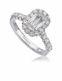 Christopher Designs L'Amour Crisscut Diamond Engagement Ring, Rings, Nazar's & Co. - Nazar's & Co.