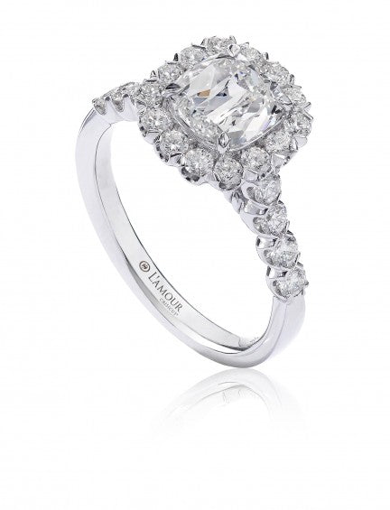 Christopher Designs L'Amour Crisscut Cushion Diamond Engagement Ring, Rings, Nazar's & Co. - Nazar's & Co.