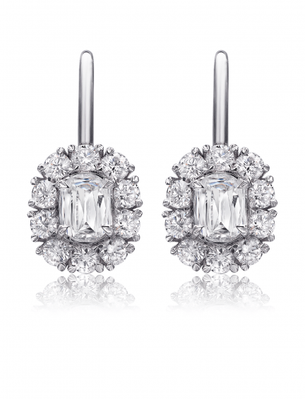 Christopher Designs L'Amour Crisscut Diamond Engagement Ring, Earrings, Nazar's & Co. - Nazar's & Co.