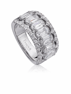 Christopher Designs L'Amour Crisscut Diamond Anniversary Band, Rings, Nazar's & Co. - Nazar's & Co.